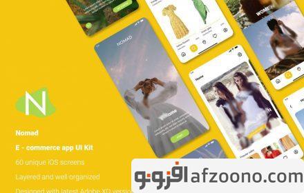 دانلود طرح لایه باز رابط کاربری اپلیکیشن فروشگاهی Nomad e-commerce app UI Kit