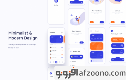 دانلود طرح لایه باز رابط کاربری اپلیکیشن مالی Orapay - Financial UI Kit