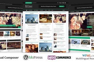 دانلود قالب خبری وردپرس Bzine
