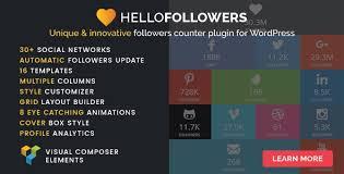دانلود افزونه نمایش تعداد دنبال کنندگان وردپرس Hello Followers